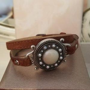 Magnabilities Brown Leather Wrap Bracelet